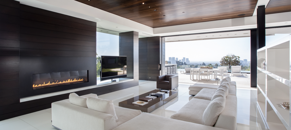 Cozy fireplace living room.